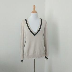 Loft Pima Cotton V-Neck Sweater